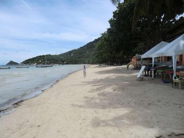der Strand rechts