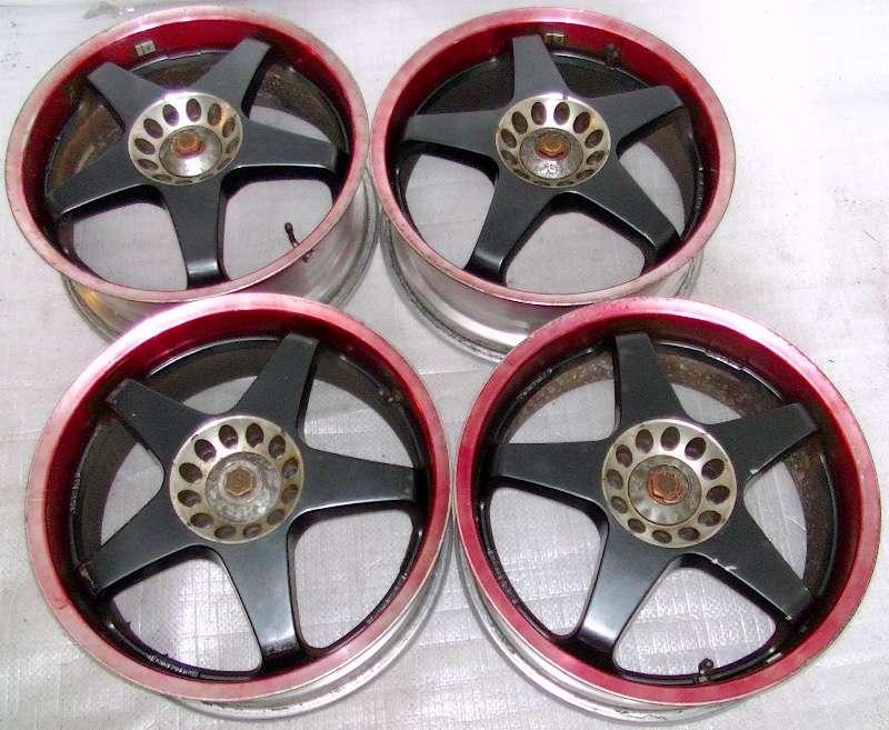 SPARCO 5spoke alloy wheels rims 17 7J 4x114 180sx S13 civic AE86