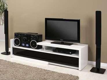 rack para tv e aparelho de som