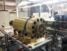 The Hi-C instrument on the integration<br /> table at the Harvard-Smithsonian<br /> Center for Astrophysics. (NASA/MSFC)