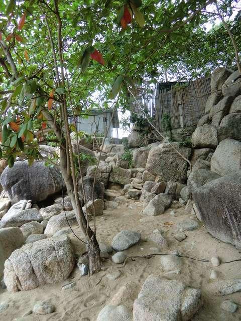 wieder zurück über die Felsen