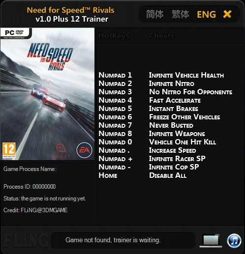 Need for Speed Rivals v1.0 64Bit Trainer +12 [FLiNG]