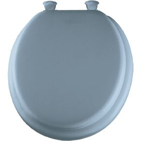 Mayfair Deluxe Soft Round Toilet Seat In Light Blue 13 034