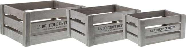 buy vintage wooden storage crates case of 9 at home bargains. Black Bedroom Furniture Sets. Home Design Ideas