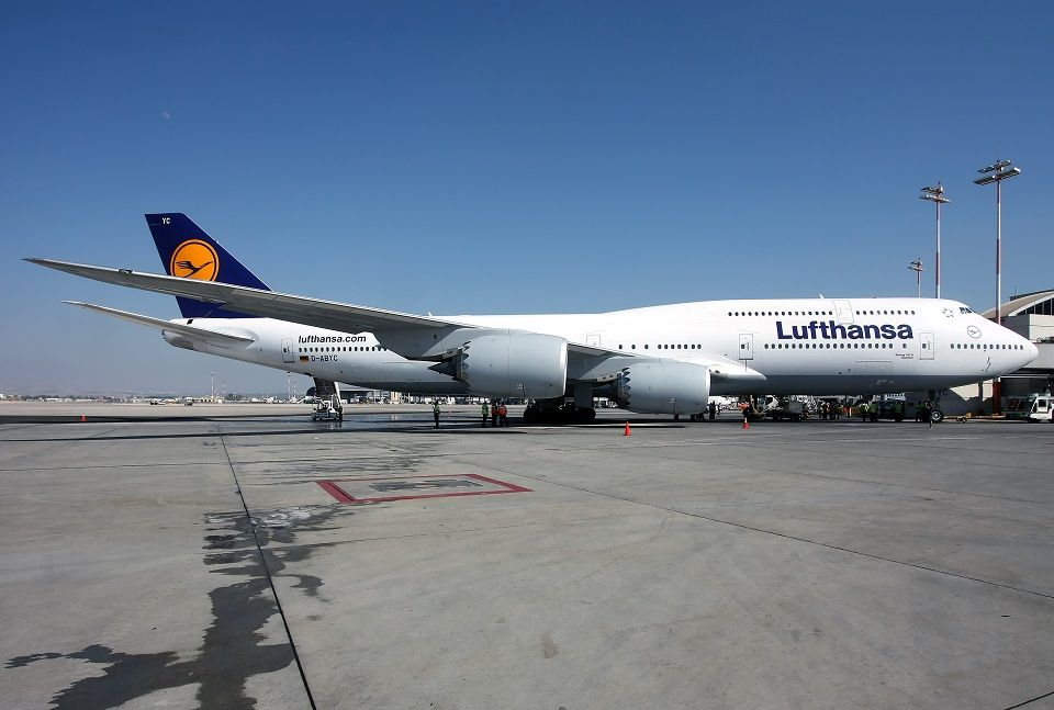 Lufthansa B748 TLV-FRA Demonstration Flight In JCL