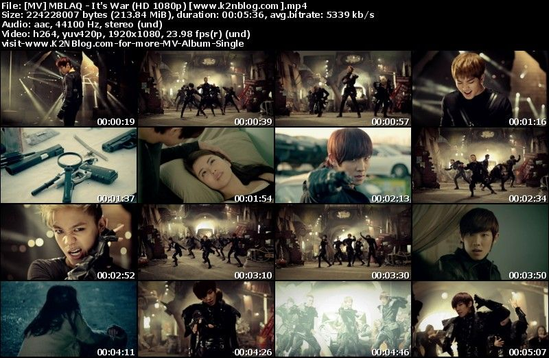 [MV] MBLAQ - It's War (HD 1080p Youtube)